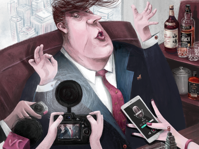 The big shot digitalart characterdesign magazine editorial concept graphic art design character illustrator illustration