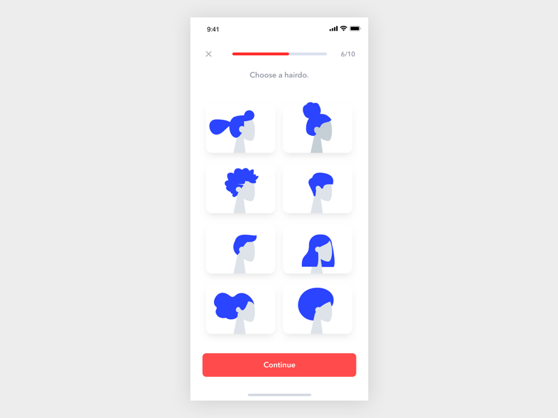 Select person avatar interface lettering app icon branding ui design illustration
