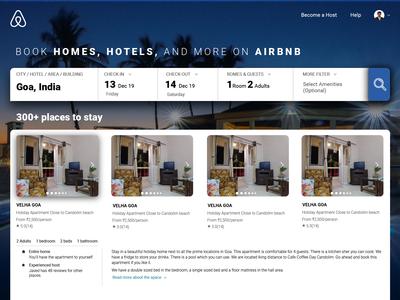 Airbnb - Homepage design