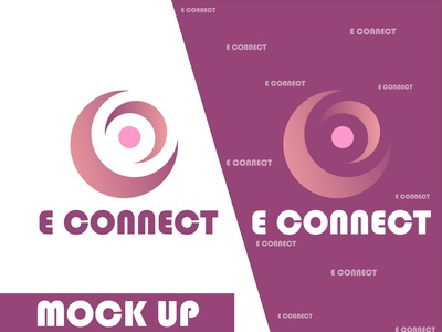 E Connect Logo design