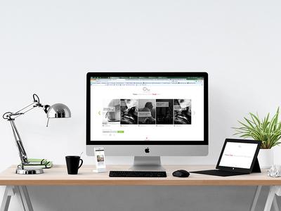 Mockup for responsive blog web design mockup responsive website ui