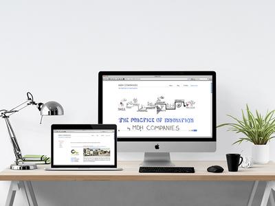 Website for an entrepreneur landing page design brand branding website interface