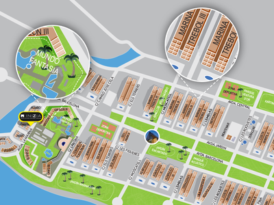 Detailed Map map design houses