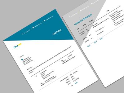 Invoice design for an european startup