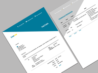 Invoice design for an european startup