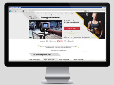 Gym Website ui responsive website mockup web design