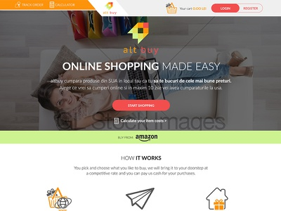 Ecommerce Website Design (Home Page) shop design e-commerce webdesign