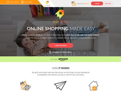 Ecommerce Website Design (Home Page) shop design e-commerce webdesign