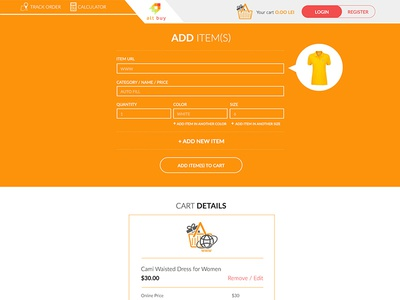 Ecommerce Website Design (Product Page) shop design e-commerce webdesign