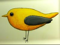 yellow bird platter
