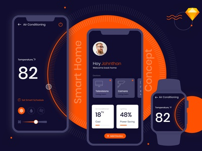 Smart Home Mobile App Concept