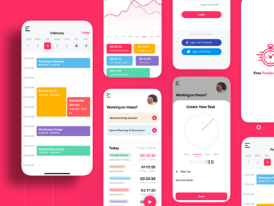 Time Tracking App time tracking mobile app time tracking login mobile apps mobile app design ios apps android app user experience user interaction ios application ios app design ios app mobile app ios