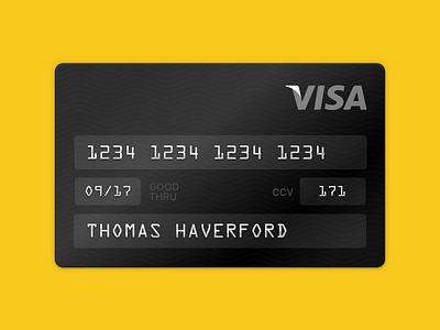 TREAT YO$ELF haverford yoself treat textures black credit card