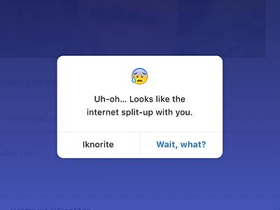 Oh snap app frontapp mobile ios dialog popover error