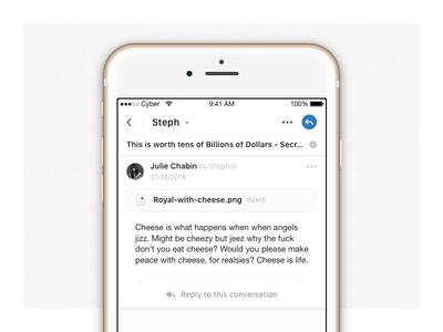 Front iOS 2 is out! not-figma cyber mail release ui app ios iphone fornt