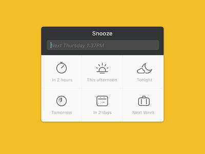 Front -  Snooze popover reminder calendar popover app desktop front snooze