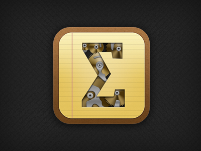 Scalar² iOS icon scalar calculator yellow paper texture metal gold silver ios icon app iphone awesome tag is awesome