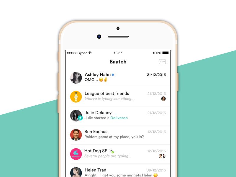 Baatch design test test app design iphone ios baatch