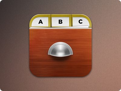 Dir app icon - iOS ios app icon wood cabinet files guiora