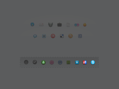 Dixhuit Reloaded Rebound icons pack pixel dixhuit social media resource free