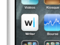 Writer icon also for iOS