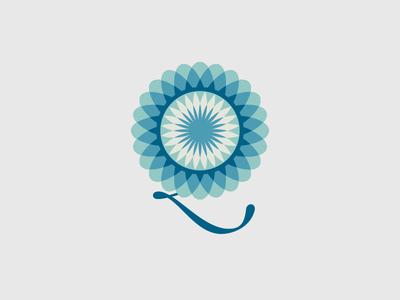 Flower 2 flower leaf illustration letter vector idea design