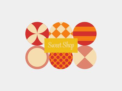 Sweet Shop sweet shop orange yellow circle red sweet shop