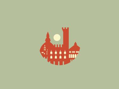 Florence landscape color houses house florence illustration vector city