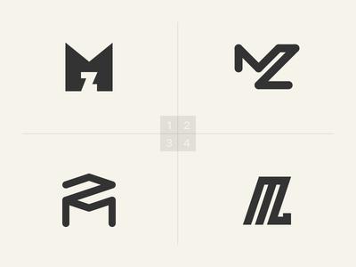 My Logo simple negative space symbol icon mark design logo identity branding