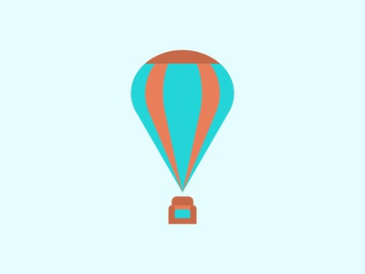 Itinerant Living Room 1 minimalistic illustration mark logo balloon fly air clouds hot air balloon