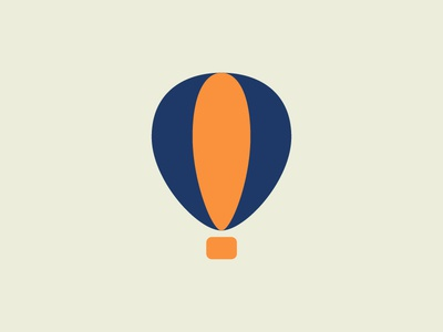 Itinerant Living Room 4 minimalistic illustration mark logo balloon fly air clouds hot air balloon