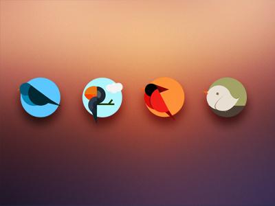 Icons birds interfaces psd icon minimal ui button drop bird ilustration circle vector cute digital user graphic design blur ios retina puerto rico