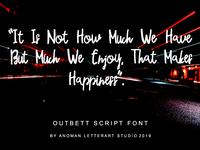 Preview Outbeet Font Script