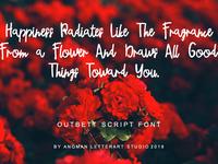 Preview Outbett Font Script