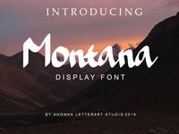 Montana Display Font