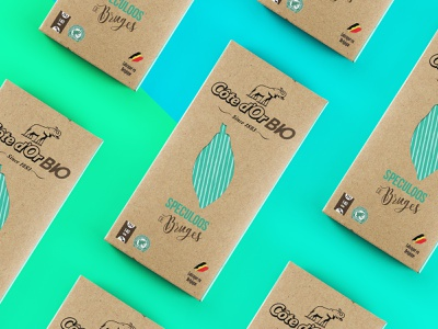 Packaging Côte D'or Bio #1 2017 speculoos elephant logo cotedor cacao belgium chocolate chocolat coloful mockup package mockup packagedesign packaging