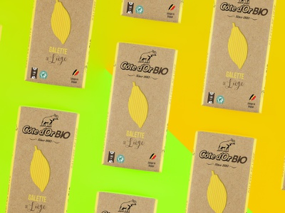 Packaging Côte D'or Bio #2 2017 branding illustration design gaufre galette liege packaging package mockup packagedesign mockup elephant logo cotedor coloful chocolate chocolat cacao belgium
