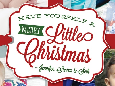 Christmas Card christmas card script typography gift tag holiday card christmas
