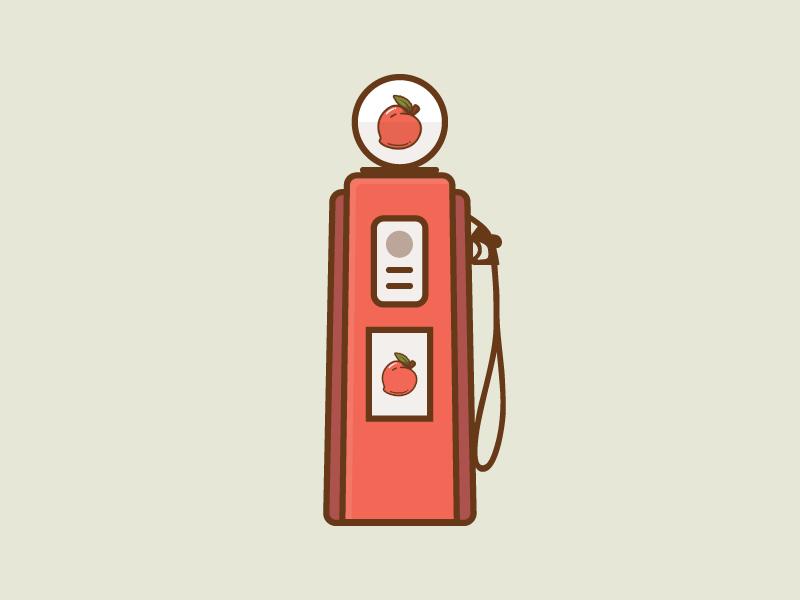 #SLDrefuel 1 of 52 —Creative South fuel pump creative south sldrefuel peach pump gas fuel