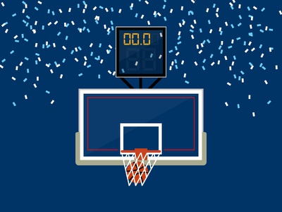 #SLDrefuel 2 of 52 —Final Four final four villanova sldrefuel confetti clock backboard swish rim net goal hoop basketball