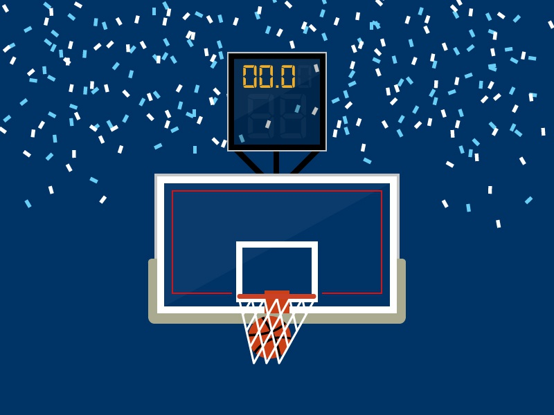 #SLDrefuel 2 of 52 — Final Four final four villanova sldrefuel confetti clock backboard swish rim net goal hoop basketball