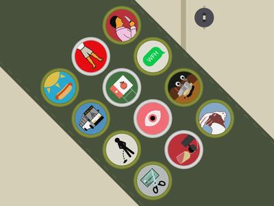 #SLDrefuel 3 of 52 — Boy Scout badges