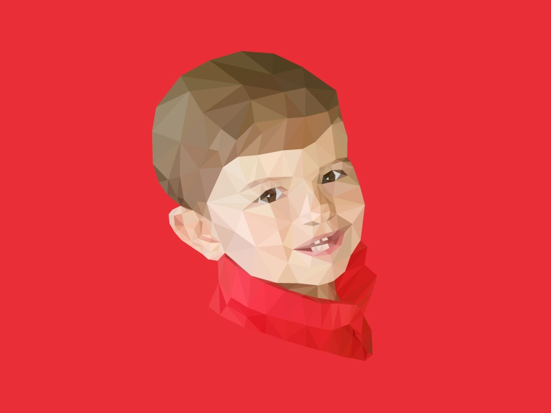 #SLDrefuel 11 of 52 —Father's Day sldrefuel triangles geometric face baby child portrait poly