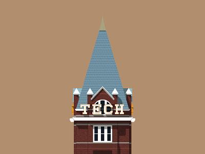 #SLDrefuel 12 of 52 —Tech Tower building campus college tower tech georgia sldrefuel