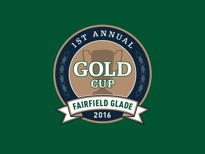 GOLD Cup golf tournament logo argyle trophy cup gold sports logo tournament golf