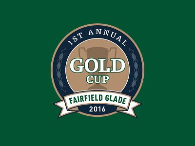 GOLD Cup golf tournament logo argyle trophy cup gold sports logo tournament golf