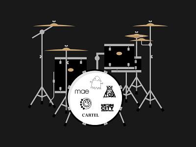 #SLDrefuel 16 of 52 —Drum Set stands cymbals sldrefuel kit set drum drums