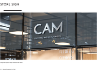 CAM - Store Sign