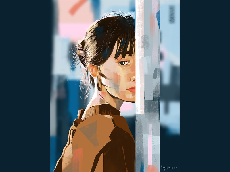 Girl 7 study digital design vector potrait art digitalart beauty illustration