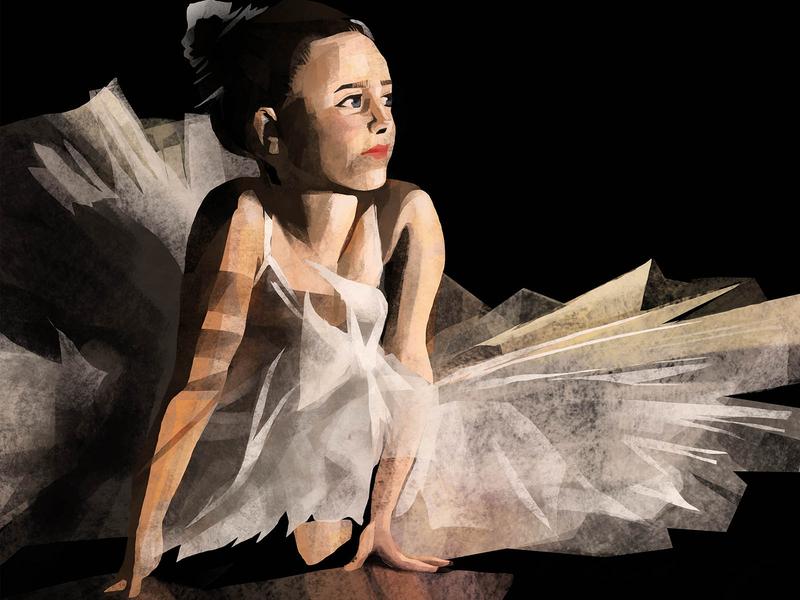 Girl 8 painting creative art creative design study colorstudy eyes design digitalpainting digitalart vector girl dancer dance potrait beauty art illustration
